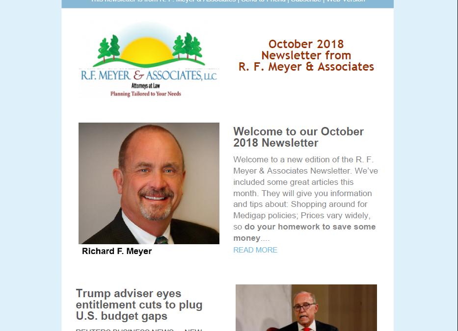 October Newsletter released